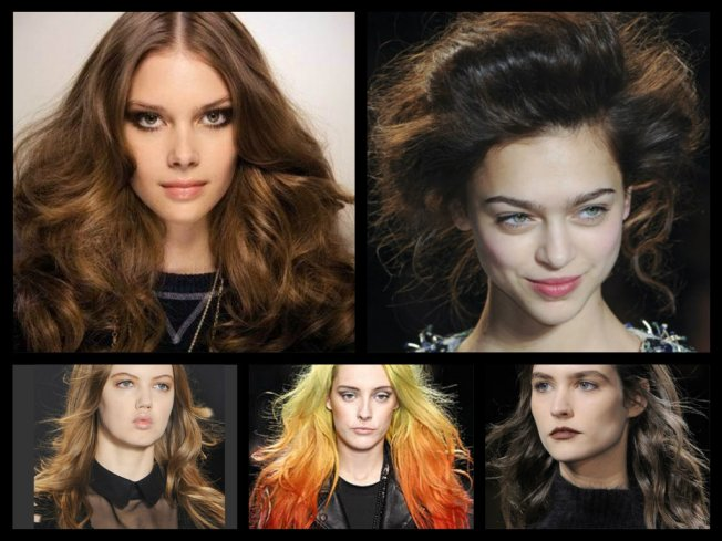 Here's a great variety of voluminous waves off the runway, from tame to haute couture.